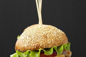 Homemade cheeseburgers