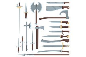 Sword vector medieval ancient weapon