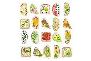 Toast vector healthy toasted food
