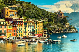 Colorful mediterranean houses, Italy