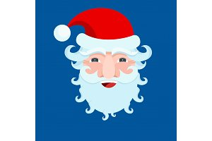 Santa Claus carnival mask