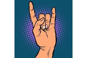 mens hand rock gesture