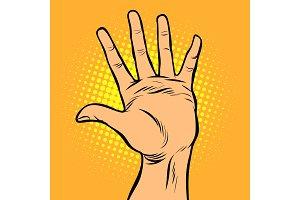 hi five hand gesture