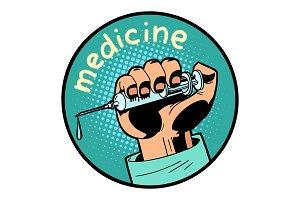 medicine doctor shot vaccination