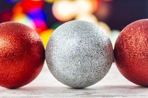 Three Christmas balls