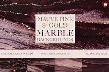 Mauve Pink n Gold Marble backgrounds