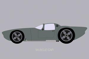muscle car fully editable