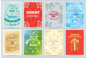 Christmas card vector merry winter