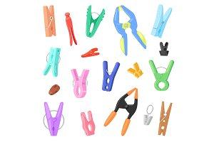 Clothespin vector clothespeg and