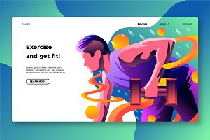 Gym Exercise - Banner & Landing Page