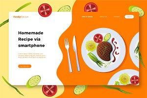 FoodyRecipe - Banner & Landing Page
