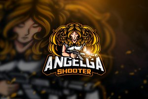 Angelga Shooter - Mascot Logo