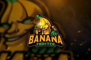 Banana Fighter - Mascot Logo