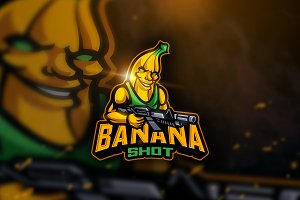 Banana Shoot - Mascot & Esport Logo