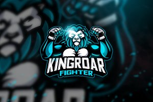 Kingroar Fighter - Mascot Logo