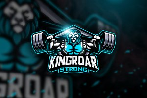 Kingroar Strong - Mascot Logo