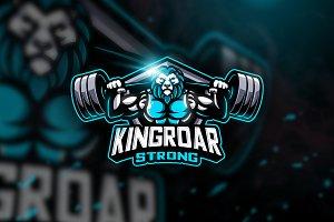 Kingroar Strong - Mascot Logo