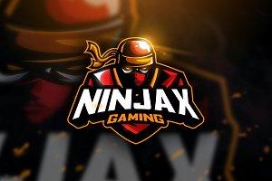 Ninjax Gaming - Mascot Logo