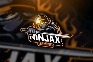 Ninjax Sword - Mascot Logo