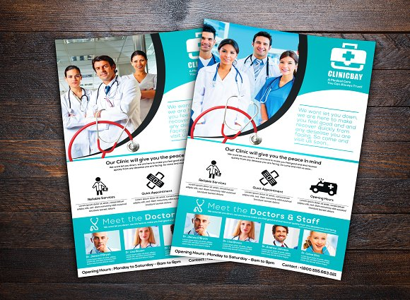 Health Clinic Flyer Flyer Templates Creative Market