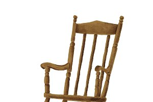 Hand drawn wooden rocking chair