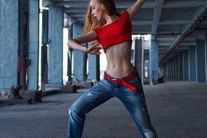 Ballerina dancing. Performance