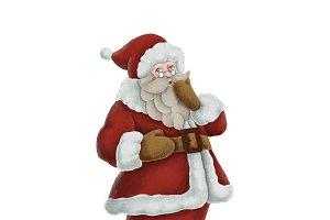 Hand drawn Santa Claus illustration