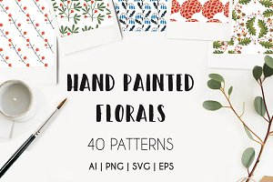 PAINTER Handpainted Floral Patterns