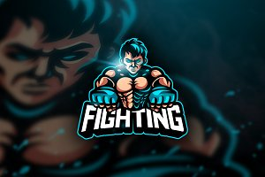 UFC Fighting - Mascot & Esport Logo