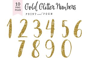 Glitter Numbers Clip arts