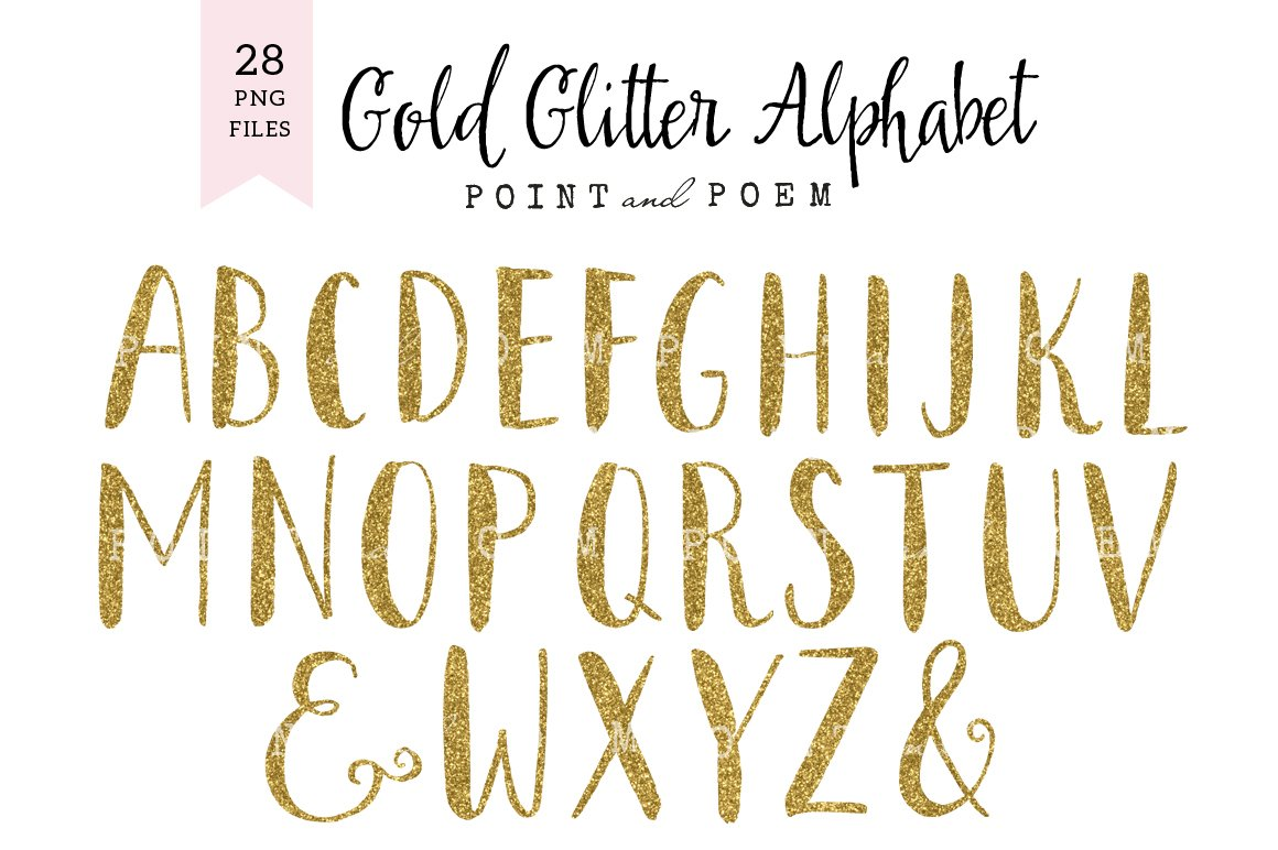 Glitter alphabet cliparts illustrations creative market thecheapjerseys Choice Image