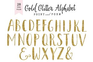 Glitter Alphabet Cliparts