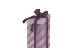 Hand drawn X'mas gift illustration