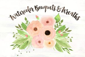 Sonata Watercolor Bouquets & Wreaths