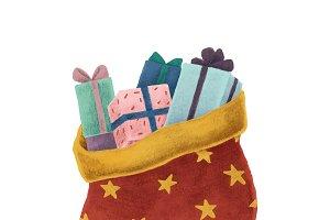 Santa sack and Christmas presents