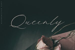 Queenly. Handwritten Font