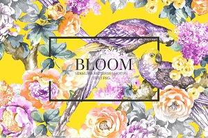 BLOOM, Exquisite watercolor Pattern!