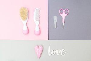 Baby scissors & hairbrush.Childcare