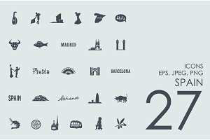 27 Spain icons