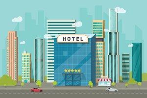 Hotel Vector Building City or Beach