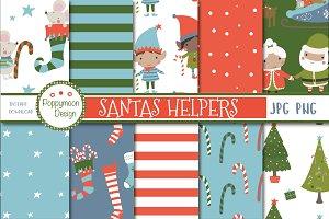 santas helpers paper