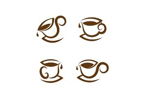 coffee cup icon set
