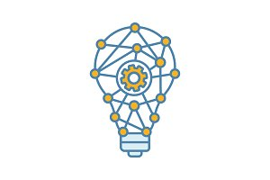 Innovation process color icon