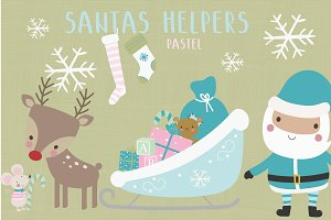 Santas helpers-pastel