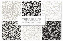 Triangular Seamless Patterns Set 4