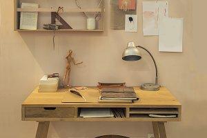 Artist workspace home desk