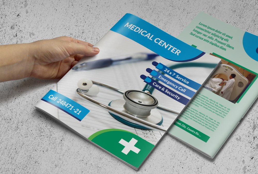 Medical Brochure Template Brochure Templates Creative Market - Healthcare brochure templates free download