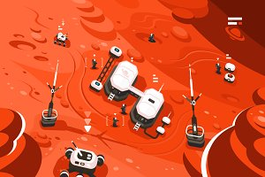 Mars planet station orbit base