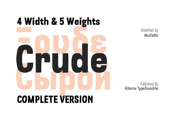 Fonts: Alterna Typefoundry - Crude Sketch Sans -Intro Offer-