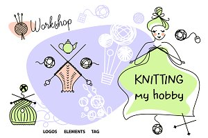 Knitting. Needlework my hobby